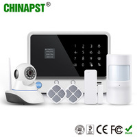 Factory price APP Controlled Touch screen wifi Alarm Home Security GSM Alarm Wireless WIFI Alarm System with IP Camera PST-G90B