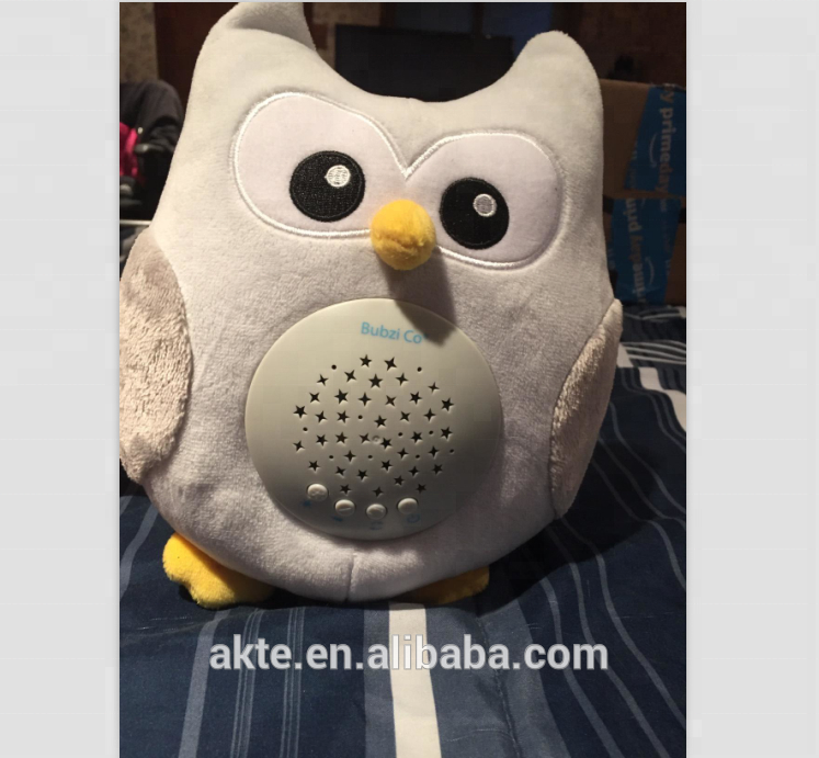 Akte Led Star Projector Portable Soother Stuffed Animal Owl Sound