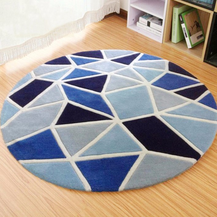 Modern Patterns Hand Made Round Carpet