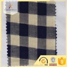 Home textile 100% polyester fabric plaid square pattern woven fabric for bolster