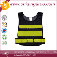 black yellow men's work wear OEM service reflective vest