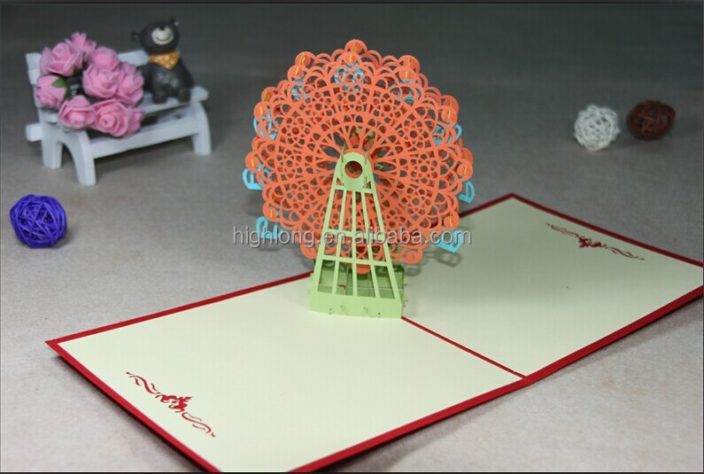Greeting card of Ferris wheel <strong>Orange</strong>