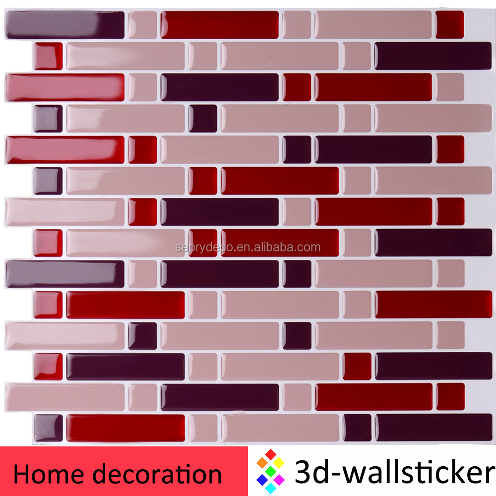 Gel materiaal muur metro kristal vinyl tegels voor keuken muur ...