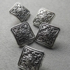 // eco friendly brass square metal buttons for coats jeans // plating silver military metal button // BK-BUT512