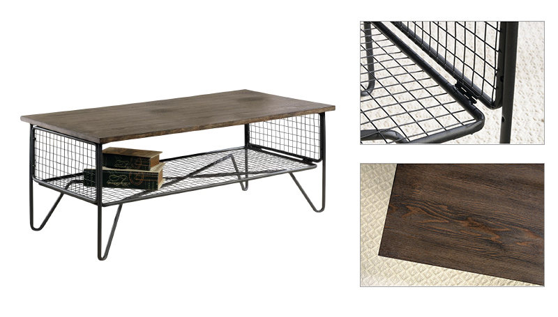 Modern Wood and Metal Coffee Table  Living Room Furniture Design Tea Table