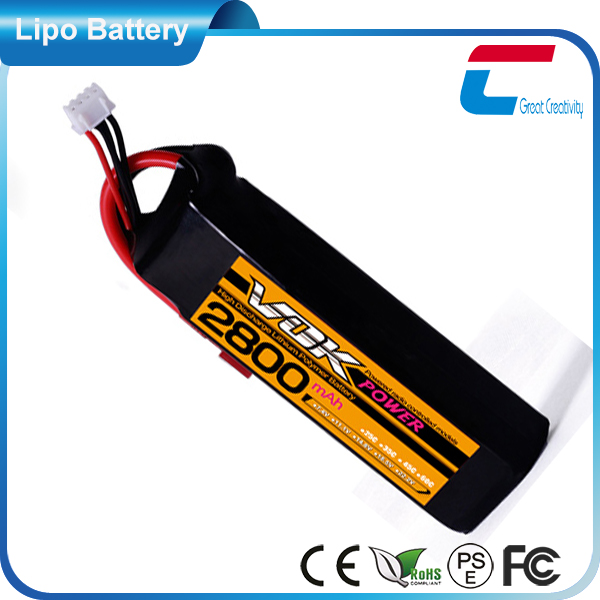 2600mAh 35C 11.1V 3 Cell Lithium Polymer Battery Life