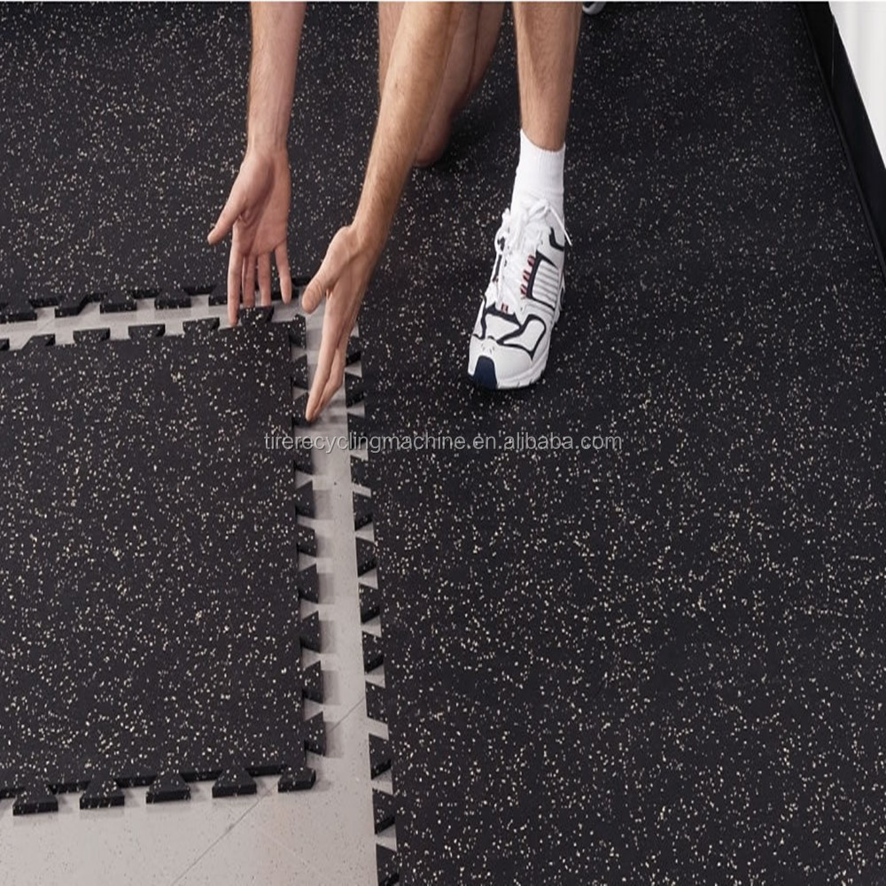 Berson gym rubber interlocking flooring , Puzzle mat for gym equipment