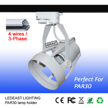 Par30 Lead Rail Light Fixture Bracket Lamp Holder 4-pin E27 Socket ...