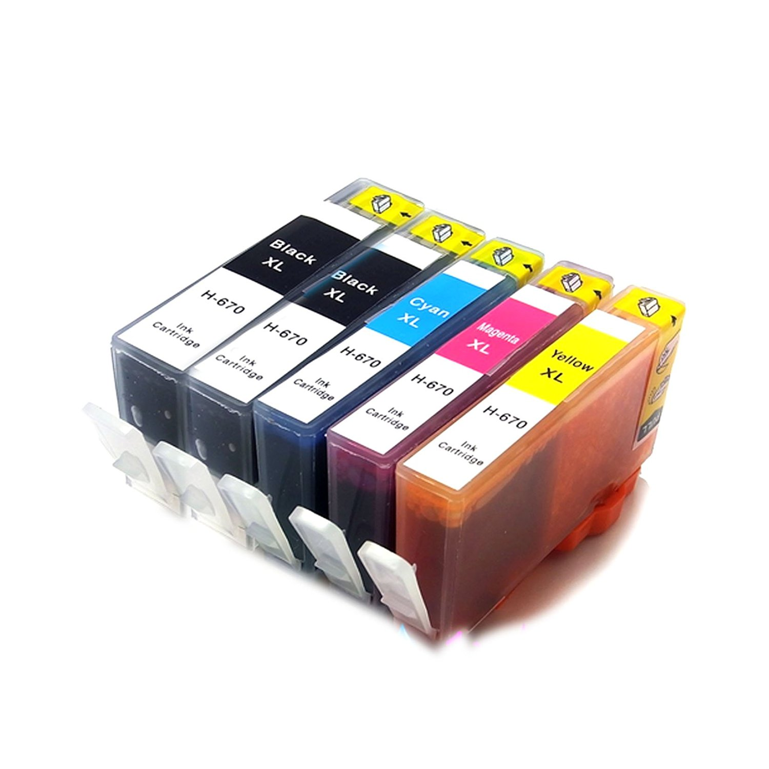 Generic 1 X 5 NEW Ink Cartridges Compatible Replacement For HP 670XL (Deskjet Ink Advantage 3525 4615 4620 4625 5525 6526)