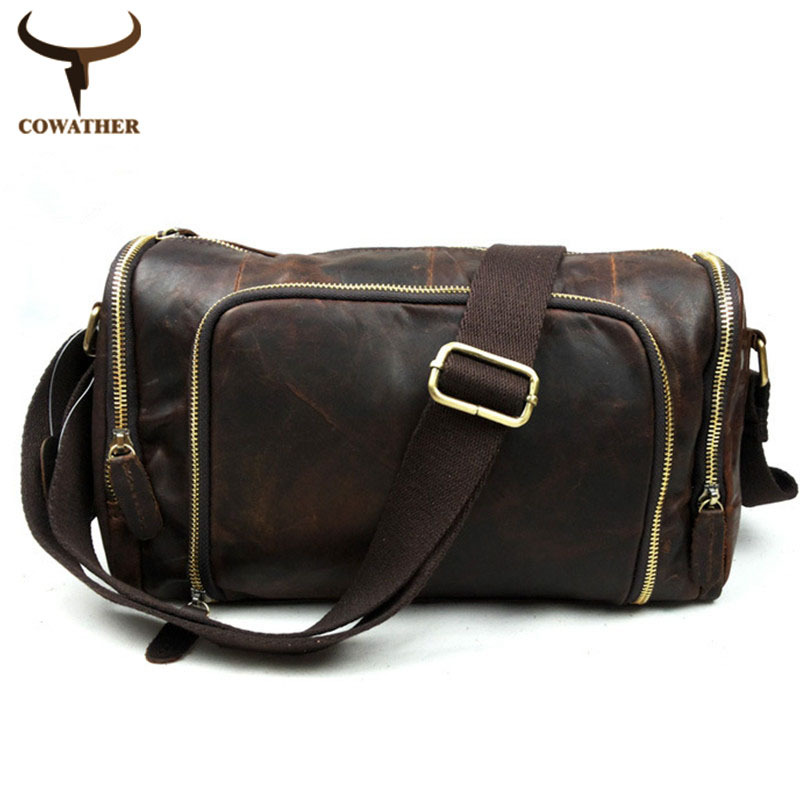 2015 handbags for men messenger bags genuine leather bag cow Crazy horse leather Natural grain Adjustable straps free shipping