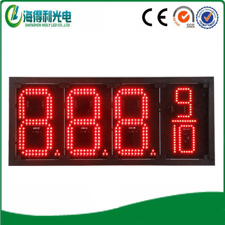 Shenzhen Led Digits Display Outdoor 8inch Led Gas Price Sign
