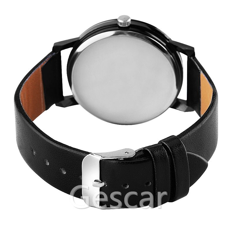 gescar 8521 hot sale no logo leather alloy mesh belt casual chinese couple watch