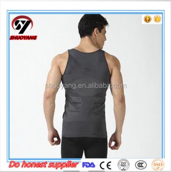 d1a46fa463 Men s Body Slimming Tummy Shaper Vest Belly Underwear shapewear Waist  Girdle Shirt