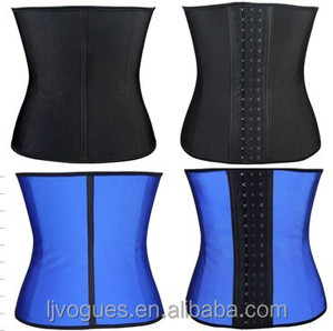 3e373199bd9 Wholesale In Stock Cheapest black latex waist trainer 3 hook 100% rubber  slimming training corset