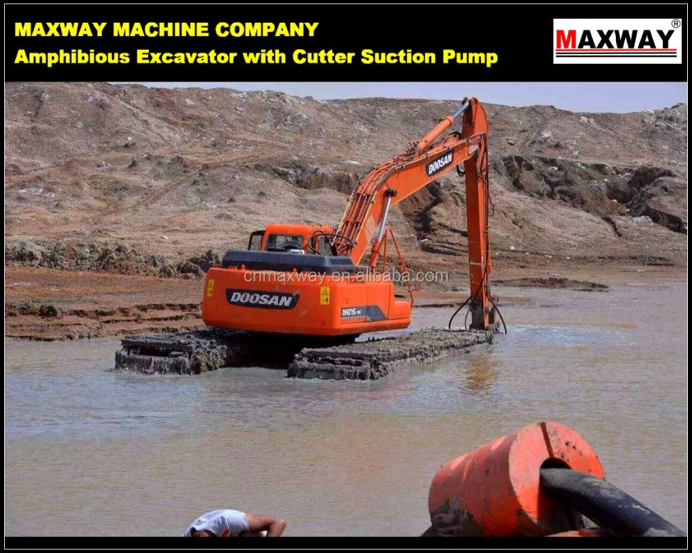 35 Ton Floating Track Undercarriage Excavator with Cutter Suction Pump . CE , EPA , SGS, ISO , Model: MAX220SD