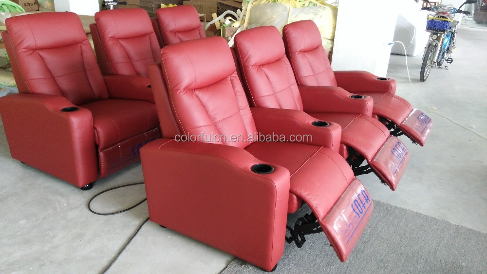 3 Seats Italian Leather Electronic Cinema Reclining Sofa Ls613 - Buy ...