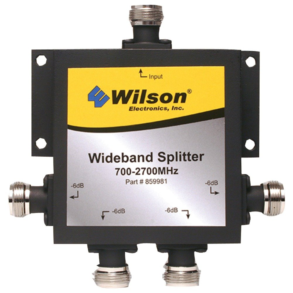 WILSON ELECTRONICS 859981 4-WAY 700 MHZ-2,300 MHZ SPLITTER WITH N FEMALE CONNECTORS