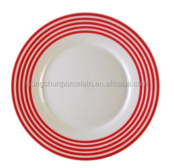 new dinner set plates  catering plates  stripe ceramic dinner plates  sc 1 st  Alibaba & New Dinner Set PlatesCatering PlatesStripe Ceramic Dinner Plates ...