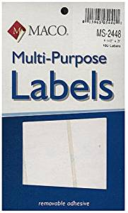 Maco Multi-Purpose Handwrite Labels (Rectangular) - 1 1/2 In. X 3 In. (Labels Per Package: 160) [4 Pieces] - Product Description - Maco Multi-Purpose Handwrite Labels- Shape: Rectangular- Size: 1 1/2 In. X 3 In.- Labels Per Package: 160These Hig ...