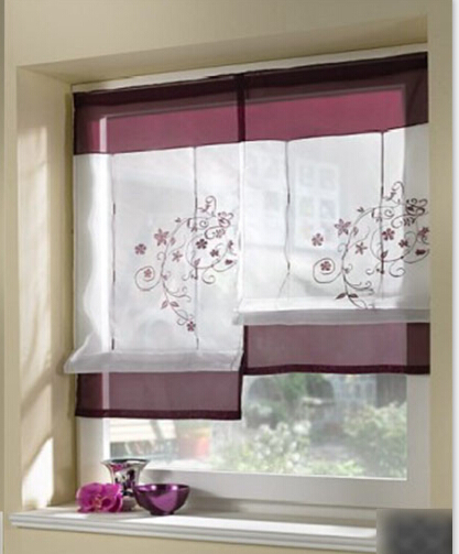 1pc embroider flower short sheer curtains for living room kitchen cortinas window curtains. Black Bedroom Furniture Sets. Home Design Ideas