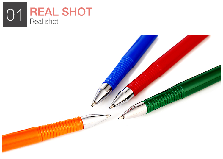 Promotional cartoon plastic desk crystal gel pen with palm alligator clip