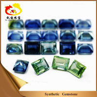 Step Cut Rough Synthetic Sapphire Corundum Stone For Sale