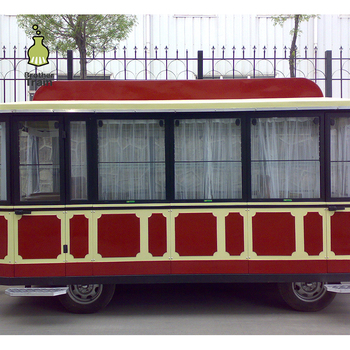 Sightseeing trackless electric train locomotive carriage for sale