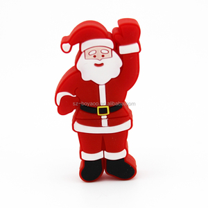 Santa Claus cartoon style usb flash drive promotion gift item pendrive free sample 16gb usb memory stick Gift USB