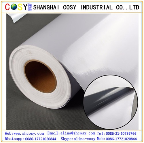 White Eco Solvent Large Format media 1.52*30m PVC Printing vinyl Roll Self Adhesive Vinyl manufacturer