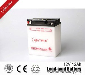 12v 12ah YTX12-BS rechargeable dry cell motorcycle battery for starting