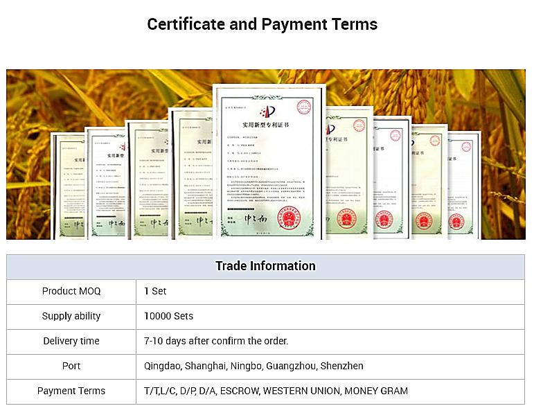 सबसे अच्छी कीमत उच्च गुणवत्ता ISO9001 प्रमाणित चावल मिल की मशीन