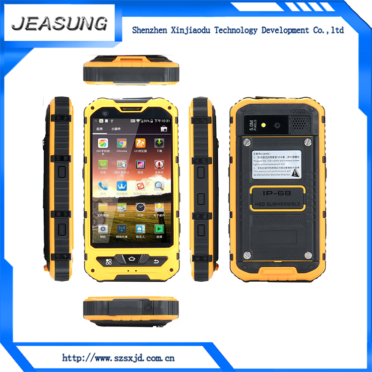 Outphone Outdoor Rugged Mobile Phone A8, IP 67 Waterproof, Dustproof With GPS and nfc 4 G Optional