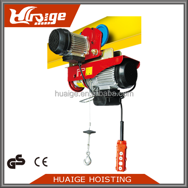 Shop Ceiling Hoist Cable Lift , Electric Wire Rope Cable Hoist Lift Pulley