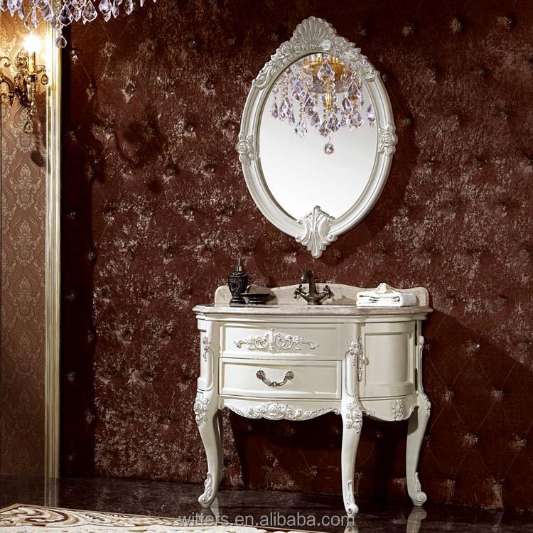 Shabby chic hoja de oro muebles de ba o victoriano consola vanidad colecci n para el ba o - Banos shabby chic ...