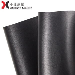 China Suppliers Synthetic PU Leather Mix Grain Fabric Vegan Embossed Leather 1.0 to 1.2 mm Black Collection