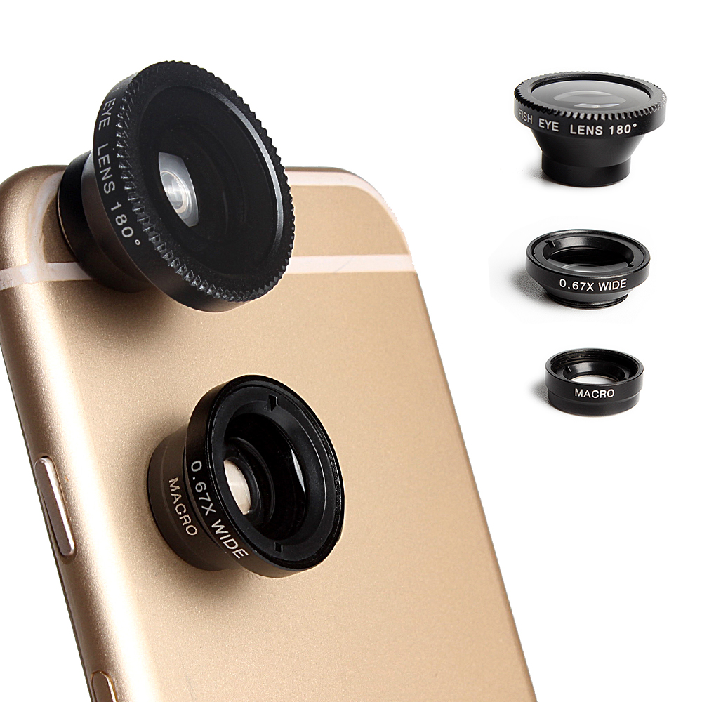 2xLente ampliación fotos ANCHO OJO DE PEZ macro iphone samsung smartphone camara