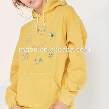 3579799aa Hot Sale Popular Silence Noise Oui Nah Logo Printing Hoodie Sweatshirt  Kangaroo Pocket Yellow Cute Hoody