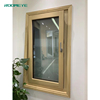 Wooden aluminum timber tilt turn windows