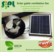 Vent tool Air Circulation Solar wall mounted Fan with AC/ DC adapter air condition solar power system home vent R