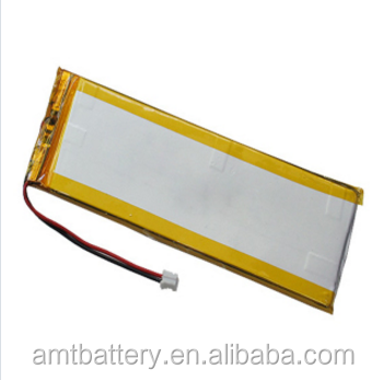 3.7V 742457PL Li-polymer battery forheart pacemaker and GPS/E-book