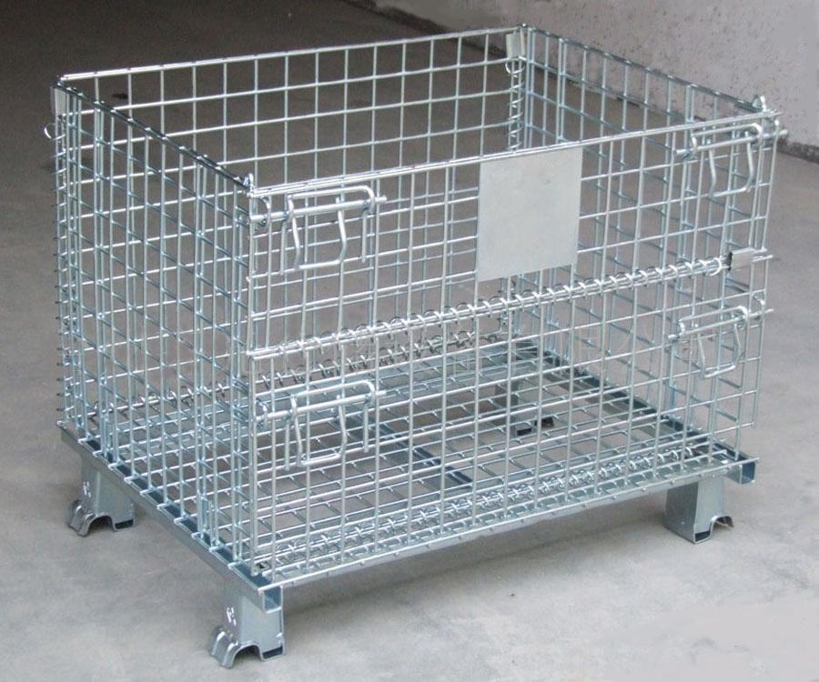 Wire Box Metal Storage Cage Pallet Box - Buy Metal Foldable Cage ...