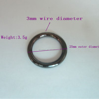 New products decorative shiny metal round ring for bags with cheap factory price