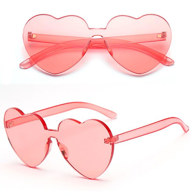 DLC9027 Plastic Heart Shaped Sunglasses Rimless Promotion Glasses