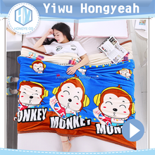 Animal design air conditioning custom print mink blanket