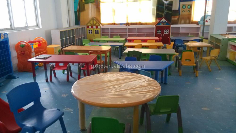 Plástico Barato Mesa De Comedor Y Sillas Qx-194g/little Kids Mesa ...