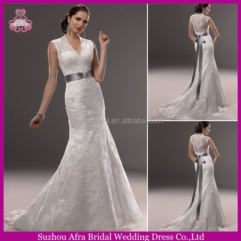 QQ3197 high neck custom beautiful white lace traditional wedding dress