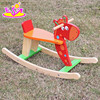 2017 Top fashion funny rocking horse wooden kids ride on toys for sale W16D109-S