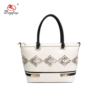04c19965d3cd Alibaba guangzhou wholesale bag women handbag white black handle handbags  ladies