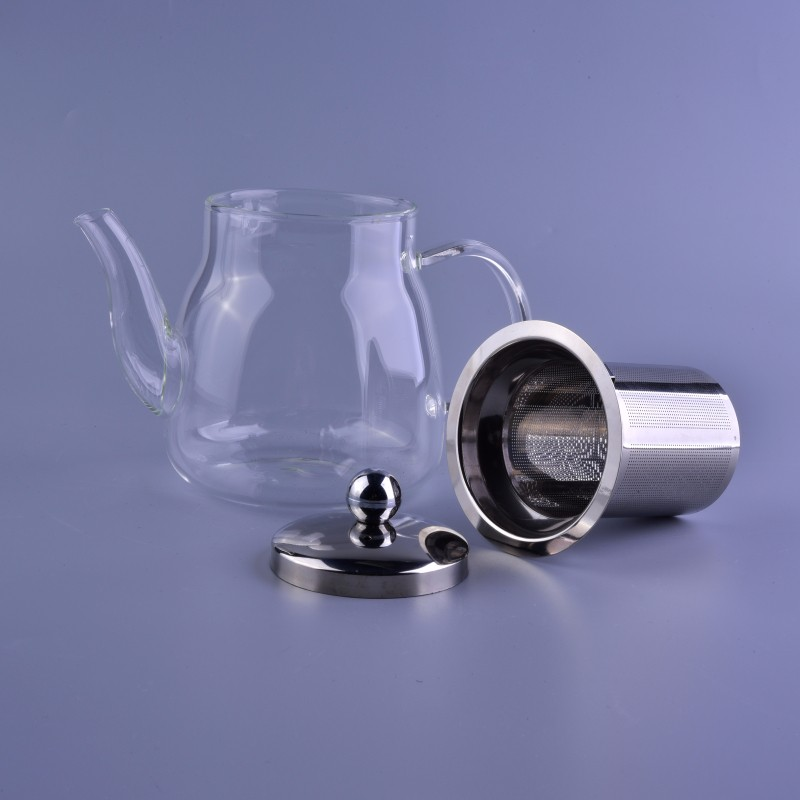 Hot sale item Heat resistant teapot with stainless steel lid