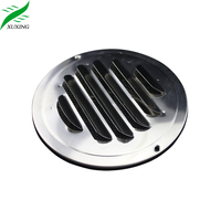 Stainless steel outlet inlet indoor wall round air louver vent with mesh net